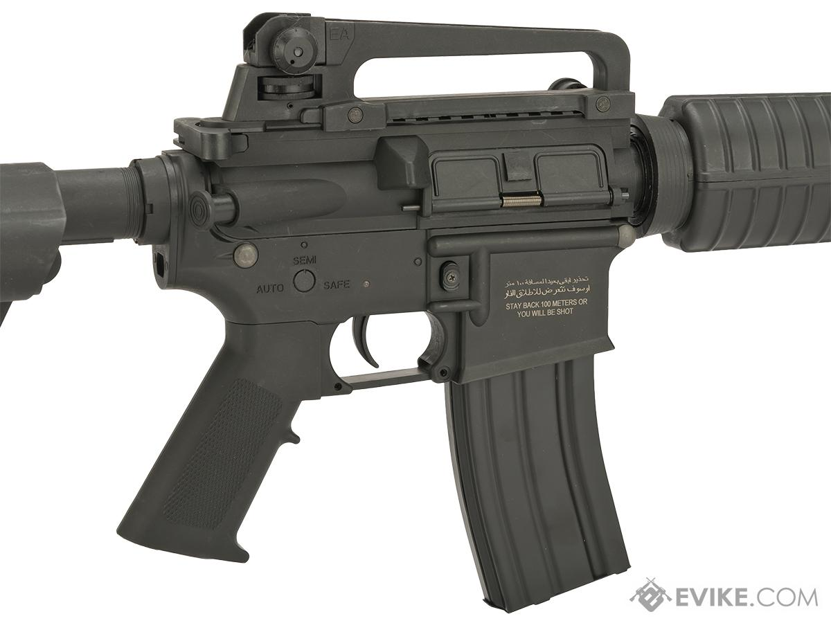 Go Airsoft Starter Package Avengers BioHazard M4 Lipo Ready Airsoft AEG Rifle (Model: Black M4 CQB)