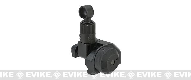 Matrix DMR / SR-25 Type 600m Full Metal Flip-Up Rear Sight for Airsoft AEG Rifles