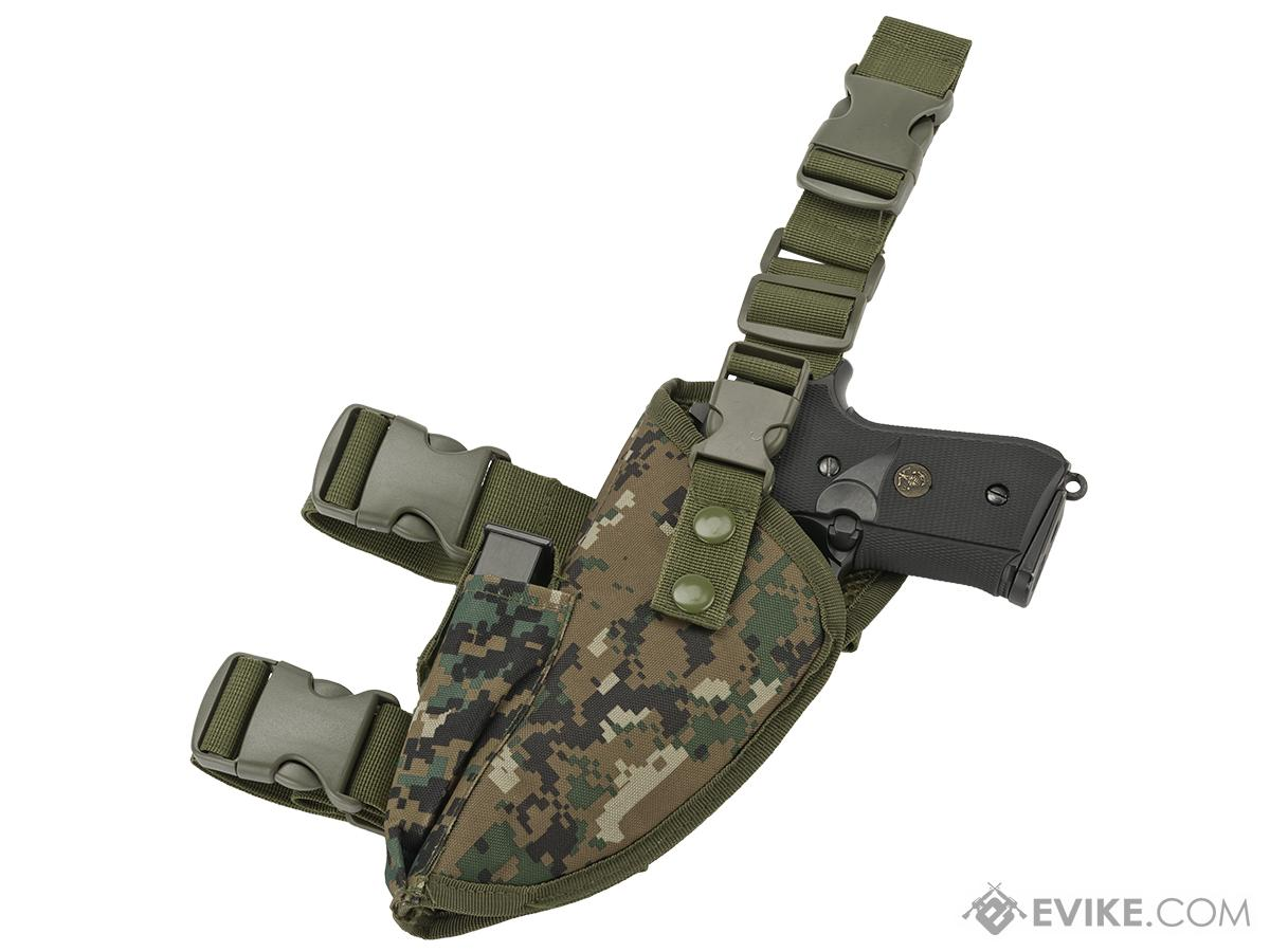 Matrix Deluxe Tactical Thigh Holster - Left Leg / Digital Woodland