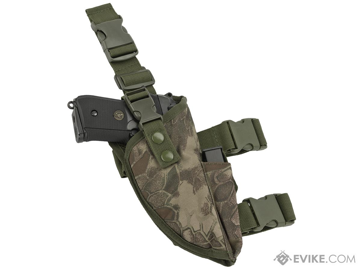 Matrix Deluxe Tactical Thigh Holster - Right Leg / Forest Serpent