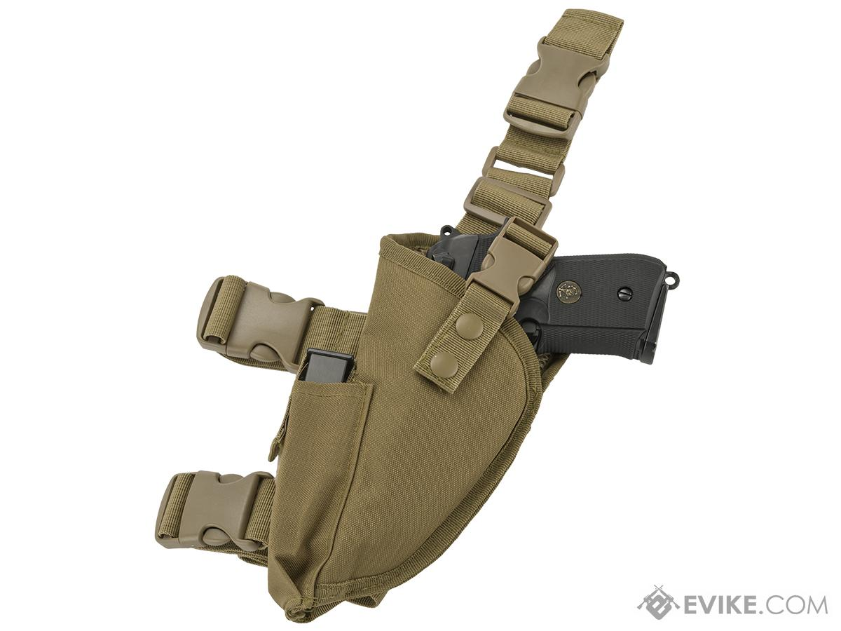 Matrix Deluxe Tactical Thigh Holster - Left Leg / Tan