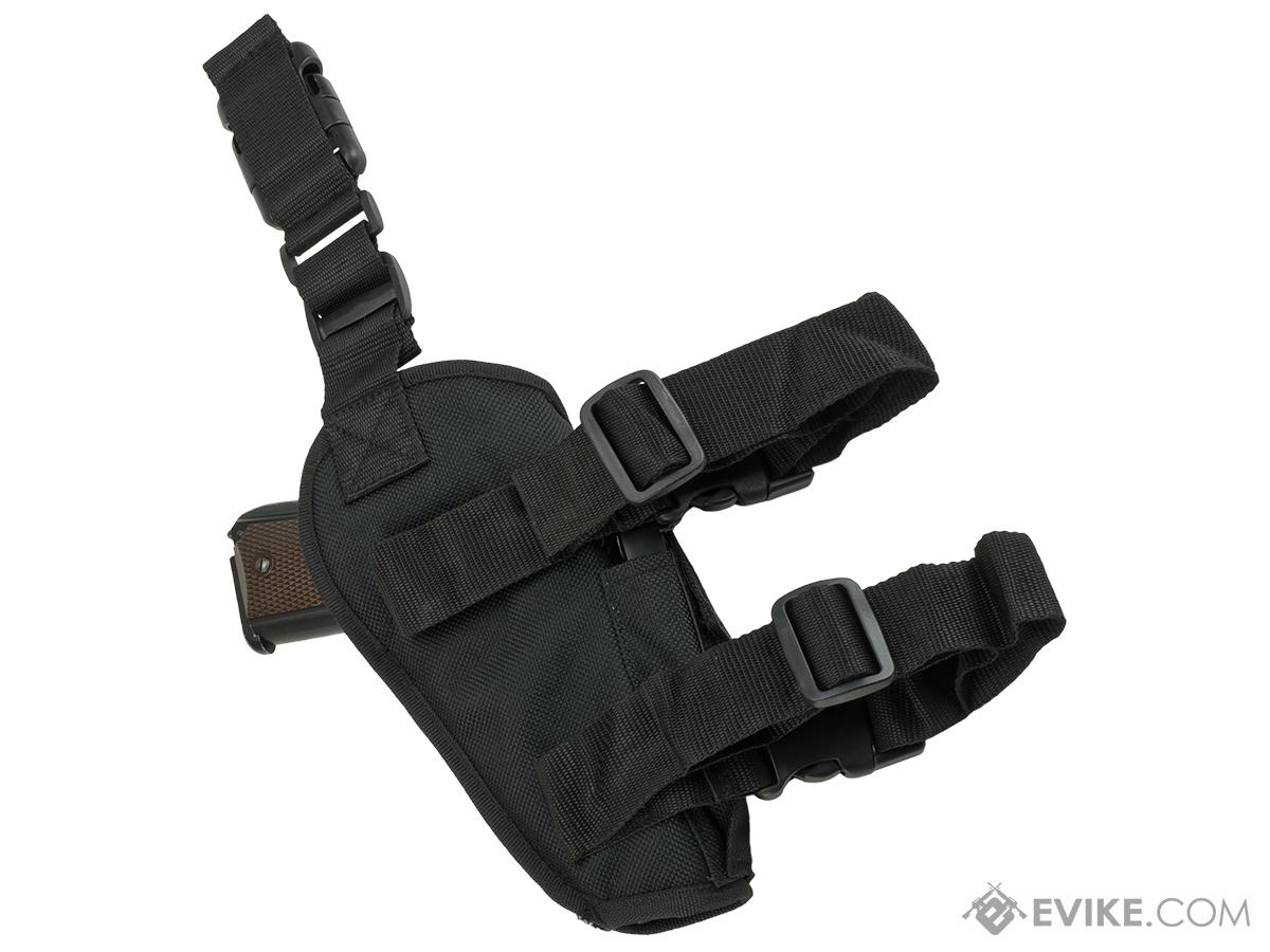 Matrix Deluxe Tactical Thigh Holster - Left Leg / Black