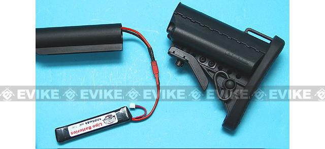 G&P Stubby Retractable Stock Complete Set for M4 Series Airsoft AEG - Black