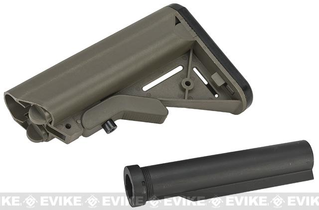 G&P Crane Stock System w/ Metal Buffer Tube for M4 M16 Series Airsoft AEG - OD