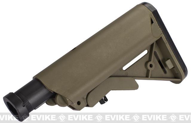 Crane Stock System w/ Metal Buffer Tube for M4 M16 Series Airsoft AEG - Desert Tan