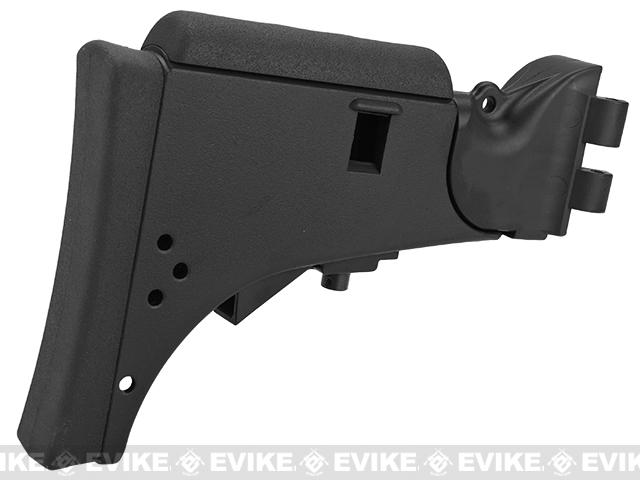 6mmProShop V Type Retractable Stock for G36 Series Airsoft AEG Rifles (Color: Black)
