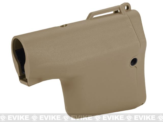 Madbull Airsoft TROY Battle Ax Retractable Stock for M4 / M16 Series Airsoft AEG Rifles - Tan