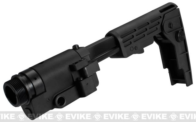 Avengers Retractable Folding Stock for M4 / M16 Series Airsoft AEG Rifles - Black