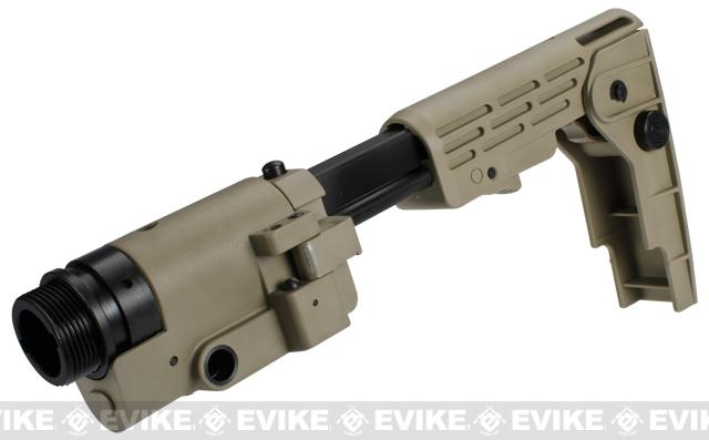 Avengers Retractable Folding Stock for M4 / M16 Series Airsoft AEG Rifles - Tan