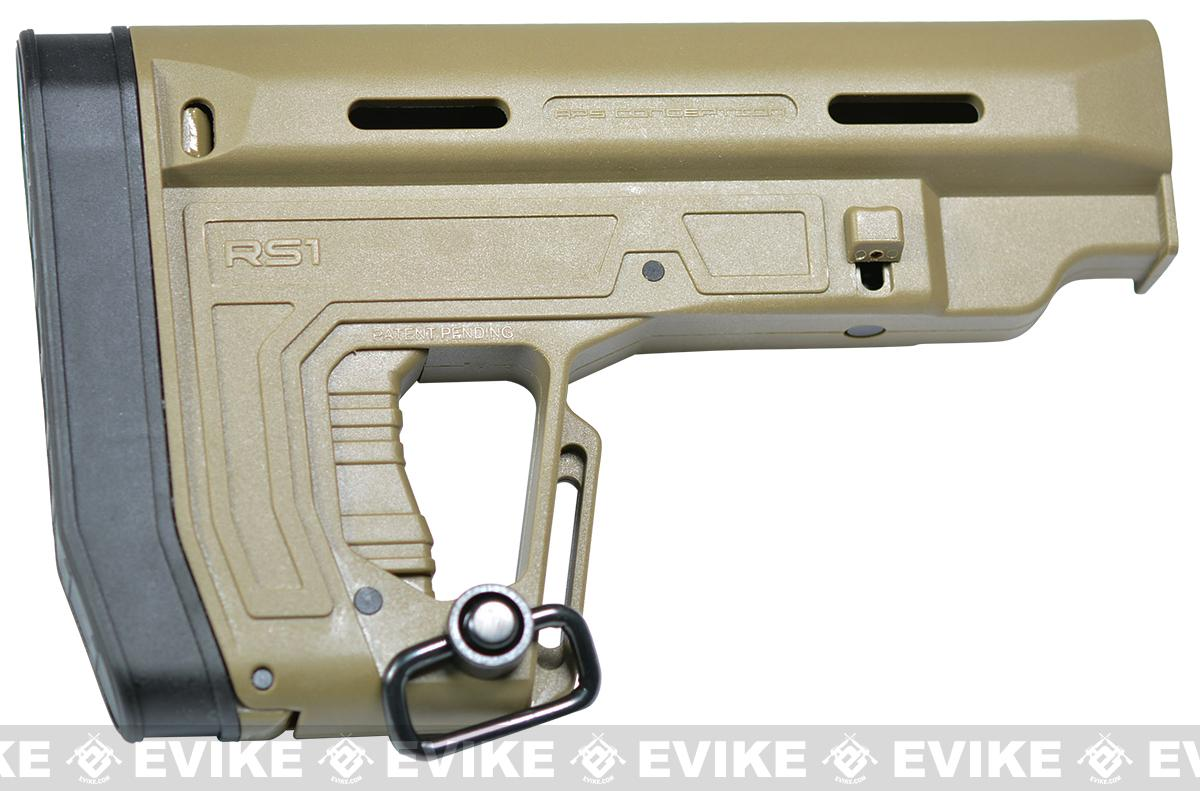 APS RS-1 Retractable Stock for M4/M16 Airsoft AEGs - Tan