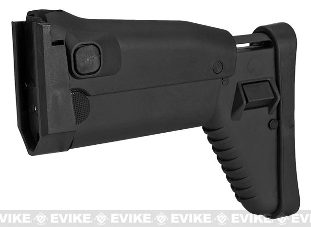 Side Folding Retractable Stock for SCAR-H (Dboy Echo1 Classic Army FN) Series AEG Airsoft Rifle - Black