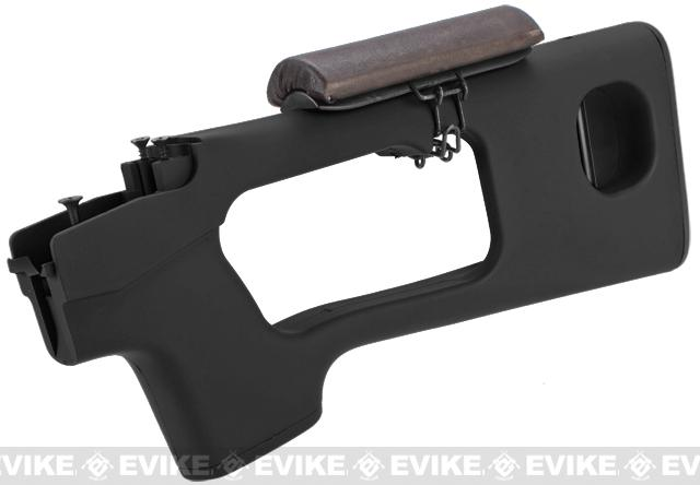 AIM Top Polymer Stock w/ Cheek Rest for SVD Series Airsoft Sniper Rifles - Black