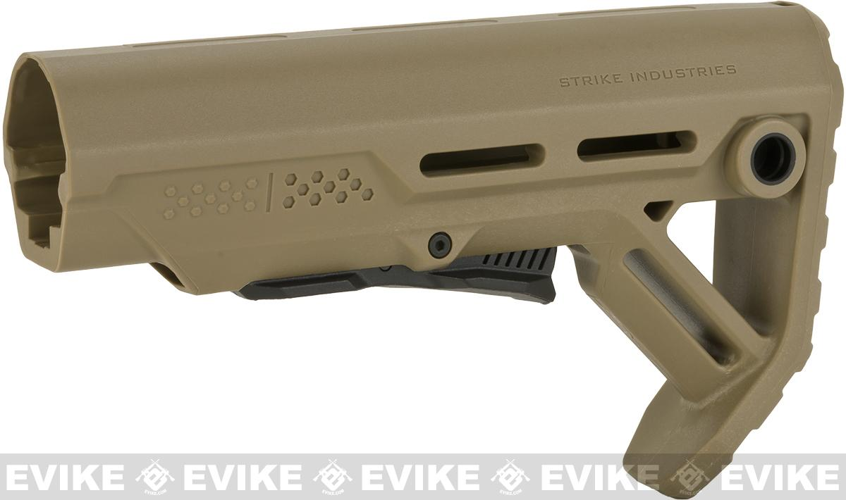 Strike Industries Viper Mod1 Adjustable Stock for M4/M16 Series Airsoft AEGs - Tan