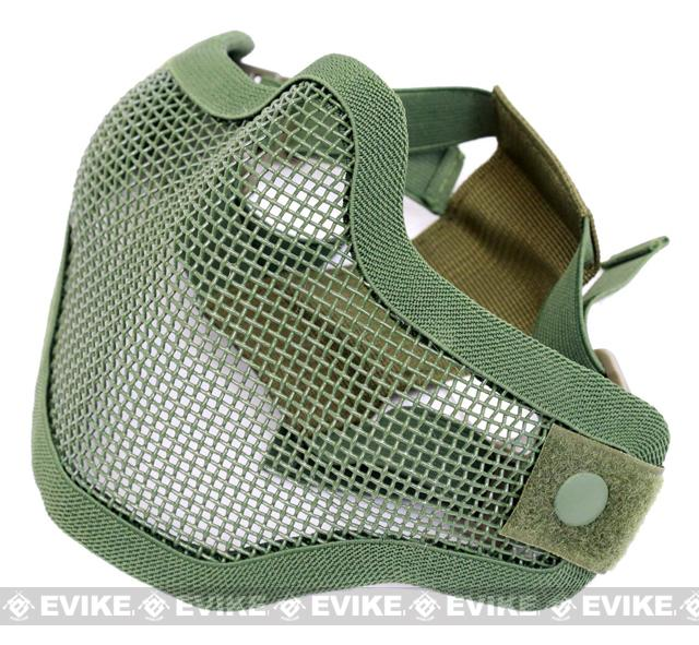 Matrix Iron Face Carbon Steel Mesh Striker V1 Lower Half Mask - Ranger Green