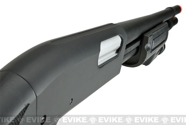 Snow Wolf Full Metal Pump Action Airsoft Shotgun - Full Stock with Weapon Light
