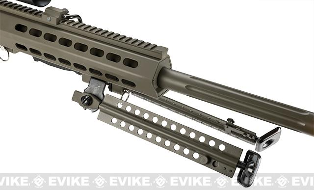 Snow Wolf Custom Long Range Airsoft AEG Sniper Rifle (V.2 Gearbox) - Tan / Short Barrel