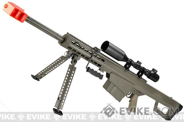 6mmProShop Custom Long Range Airsoft AEG Sniper Rifle (V.2 Gearbox) - Tan / Short Barrel