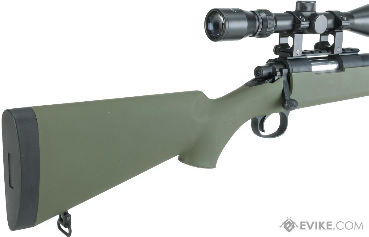 z Snow Wolf VSR10 / M700 Bolt Action Sniper Rifle with Scope  - Green