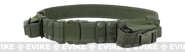 Condor Tactical Pistol Belt with mag Pouches- OD Green