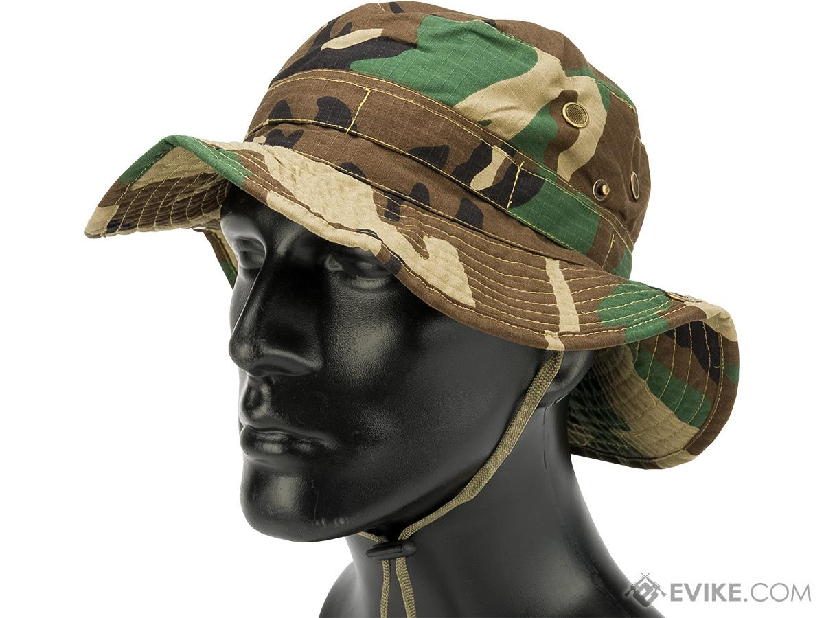 Matrix Lightweight Rip Stop Jungle Boonie Hat (Color: Woodland Camo / Small)