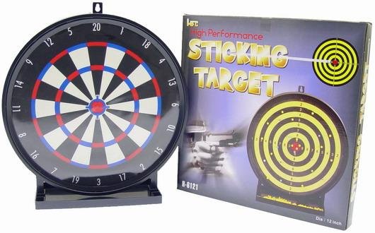Airsoft 12 Large Sticky Shooting Target w/ BB Collection Tray by HFC / JG
