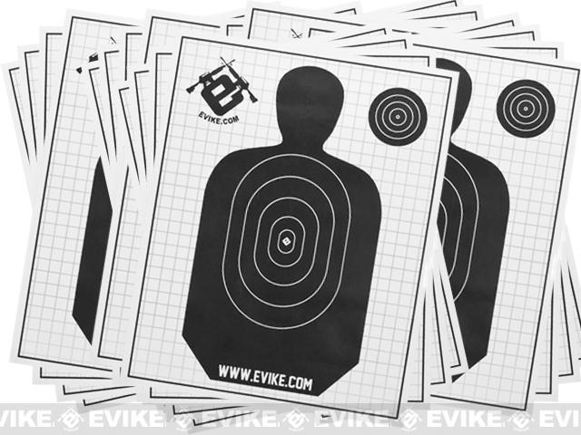 Evike Professional Paper Range Target - Pack of 20