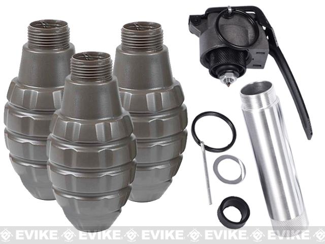 Thunder B Co2 Airsoft Paintball Simulation Sound Grenade (3 Shell Set / Pineapple)