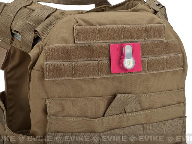 FMA Tactical IFF LED S-Lite Light Patch (Color: White Strobe/Pink Case)