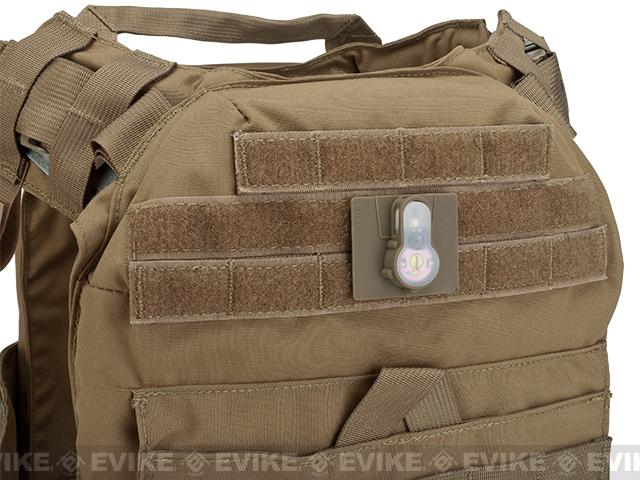 FMA Tactical IFF LED S-Lite Light Patch (Color: Pink Strobe/Dark Earth Case)