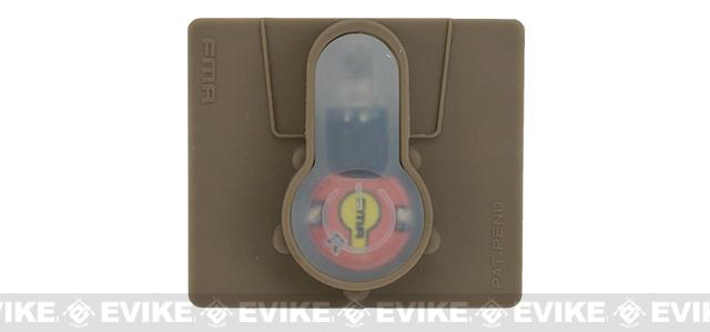 FMA Tactical IFF LED S-Lite Light Patch (Color: Red Strobe/Dark Earth Case)