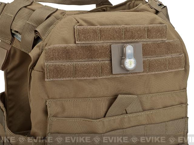 FMA Tactical IFF LED S-Lite Light Patch (Color: White Strobe/Dark Earth Case)