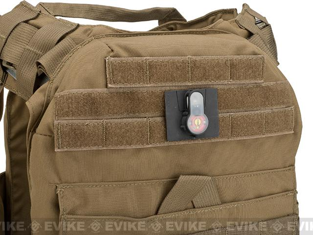 FMA Tactical IFF LED S-Lite Light Patch (Color: Red Strobe/Black Case)