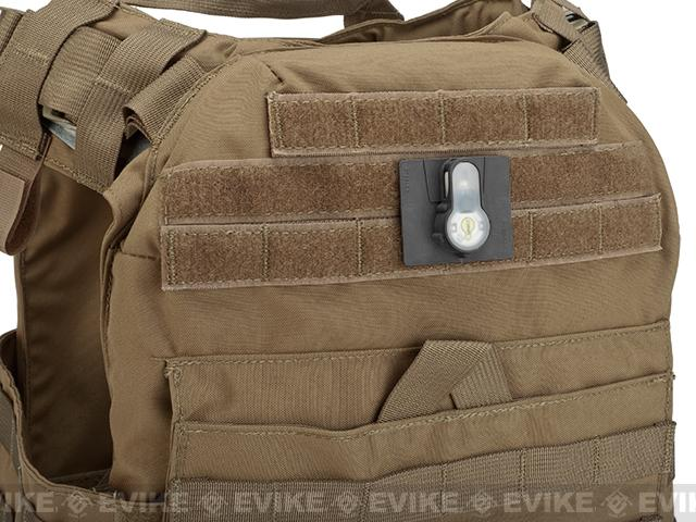 FMA Tactical IFF LED S-Lite Light Patch (Color: White Strobe/Black Case)