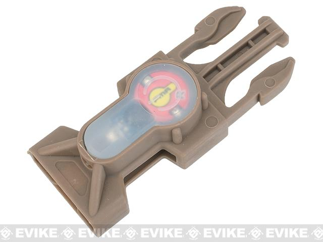 FMA S-Lite IFF Strobe LED Buckle - Dark Earth Buckle / Red LED