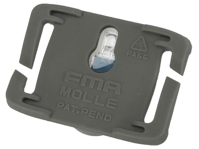 FMA S-Lite Horizontral IFF Strobe LED for MOLLE - Foliage Green Buckle / Red Strobe