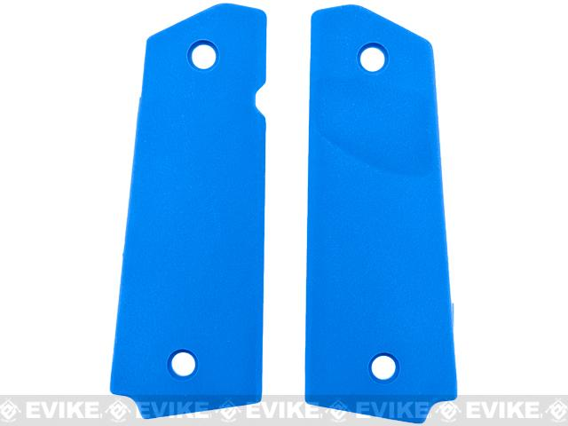 FMA Tactical Polymer Grip Panels for 1911 Airsoft GBB Pistols - Blue