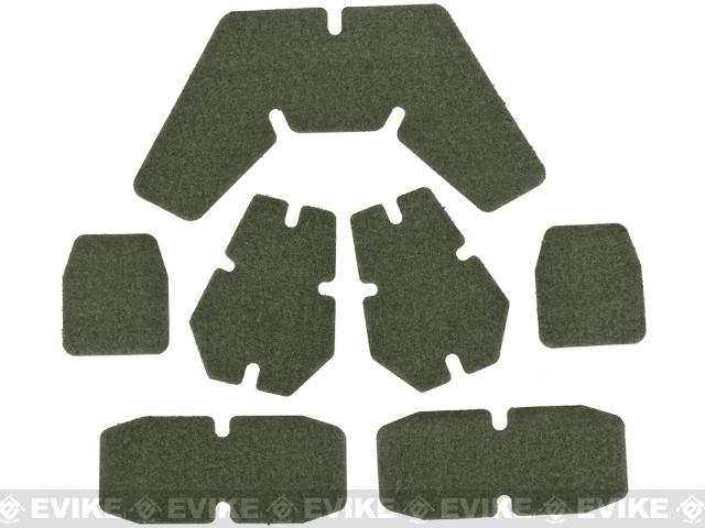 FMA CP Helmet Self Adhesive Hook and Loop Set - Foliage Green
