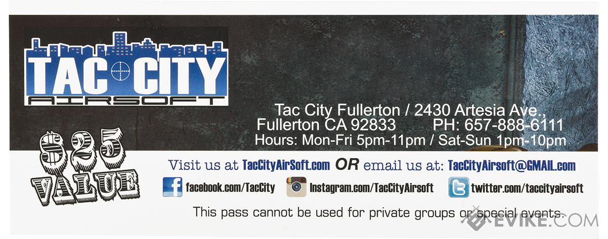 Tac City Admission Ticket for One to Tac City Fullerton