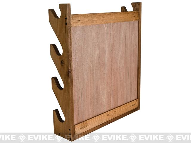 Evans Sports Traditional Solid Wood Rifle / Gun Rack w/ Evike Logo - 4 Long Guns