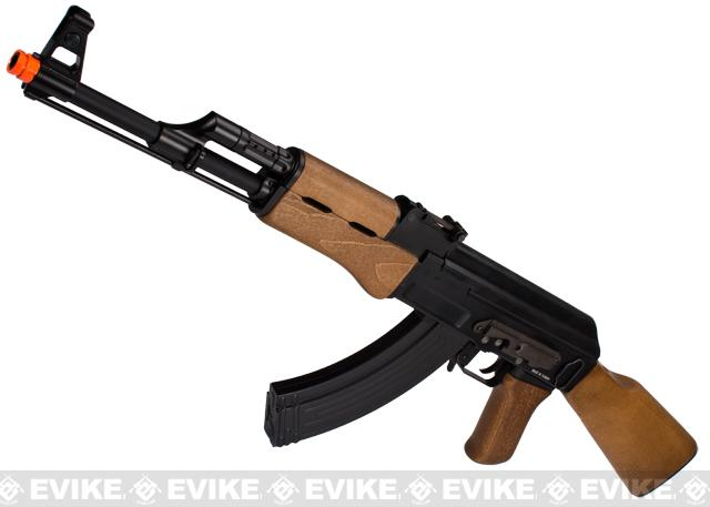 G&G Top Tech Full Metal AK47 RK47 Blowback Airsoft AEG Rifle with Real Wood - (Package: Gun Only)