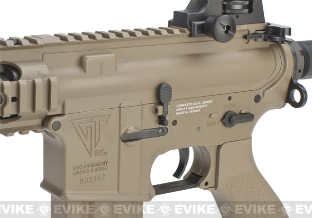 G&G Top Tech TR15 Raider Airsoft Electric Blowback AEG Rifle - Tan (Package: Gun Only)