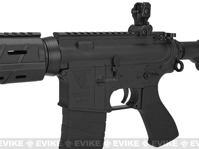 G&G Top Tech Full Metal TR4 Mod-0 Electric Blowback Airsoft AEG Rifle - Black (Package: Add 9.6 Butterfly Battery + Smart Charger)