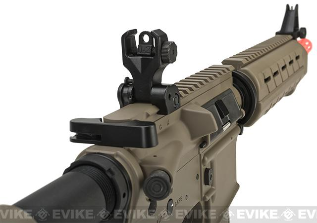 G&G Top Tech Full Metal TR4 Mod-0 Electric Blowback Airsoft AEG Rifle - Tan (Package: Add 9.6 Butterfly Battery + Smart Charger)