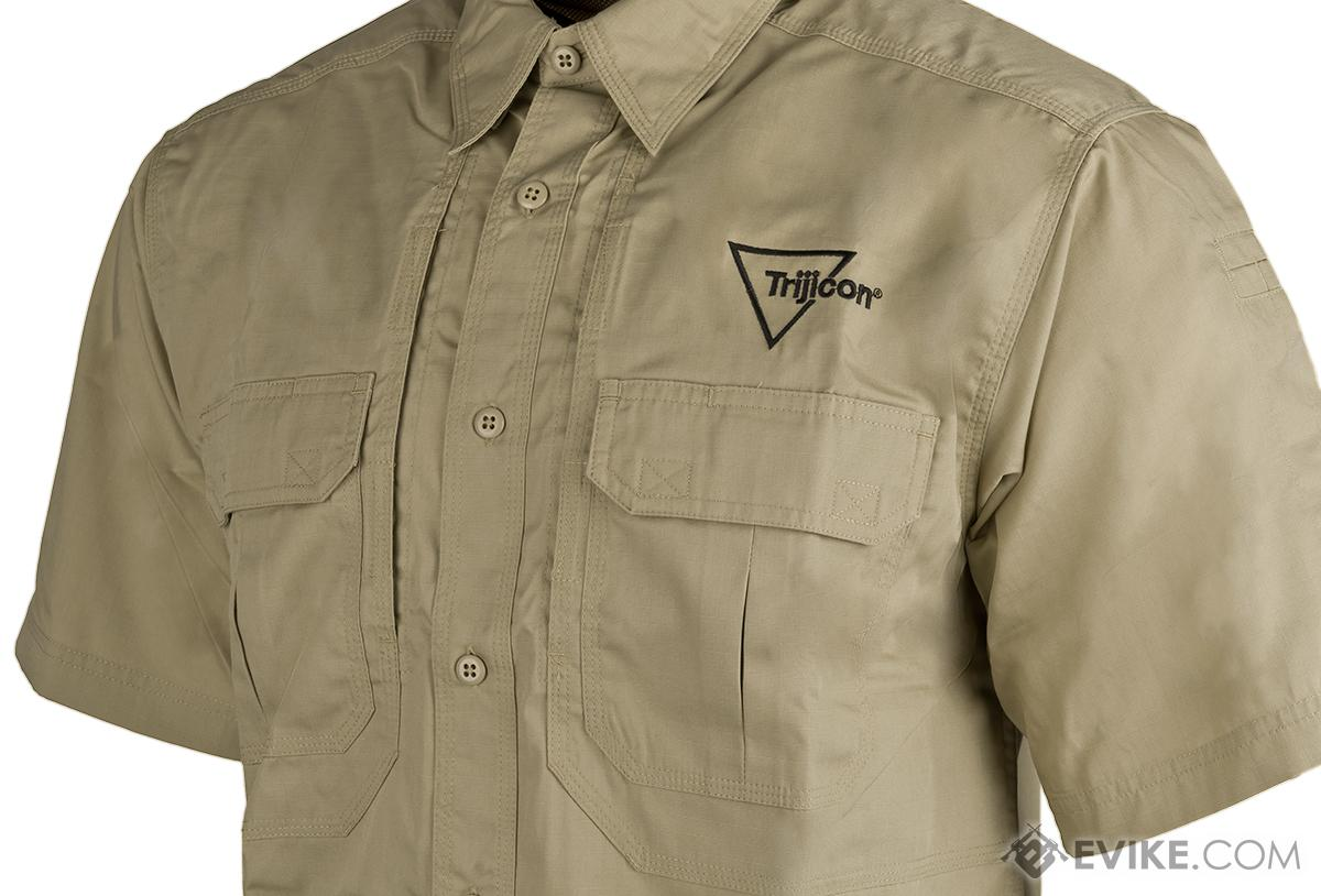 Khaki Short Sleeve Tact. Shirt w/Trijicon® Logo - Large