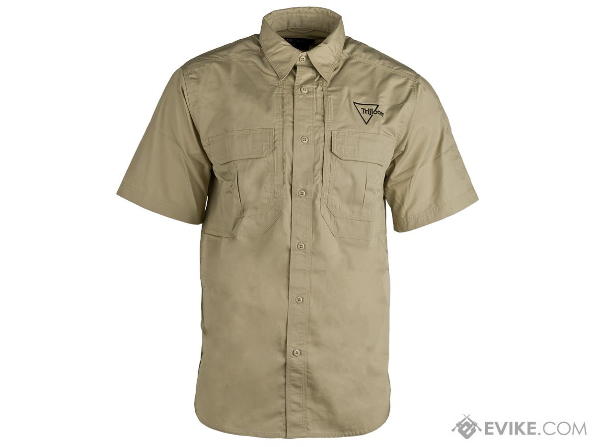 Trijicon Short-Sleeve Tactical Button Down Shirt - Khaki (Size: Medium)