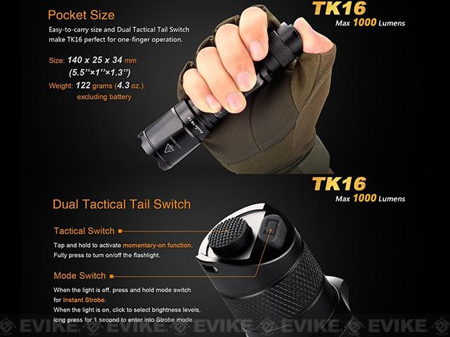 Fenix TK16 LED Flashlight Tactical Flashlight