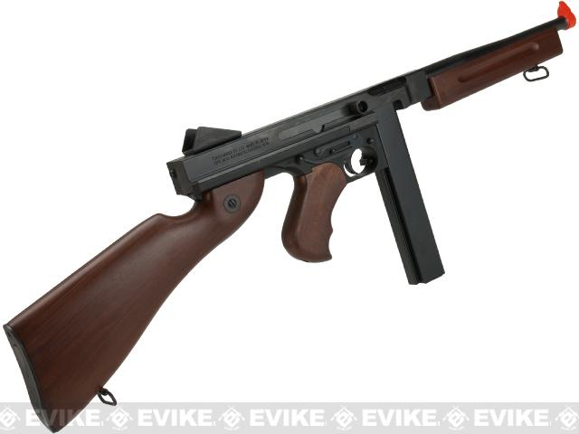 Tokyo Marui Full Size M1A1 Thompson Airsoft AEG Rifle with Imitation Wood Furniture