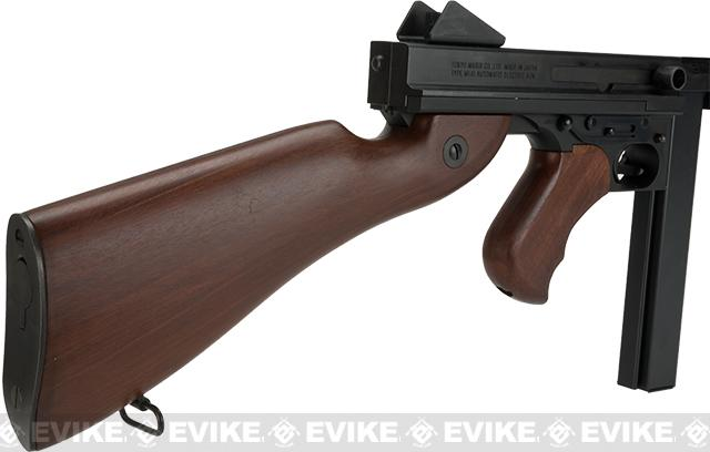 Pre-Order ETA August 2016 Tokyo Marui Full Size M1A1 Thompson Airsoft AEG Rifle with Imitation Wood Furniture