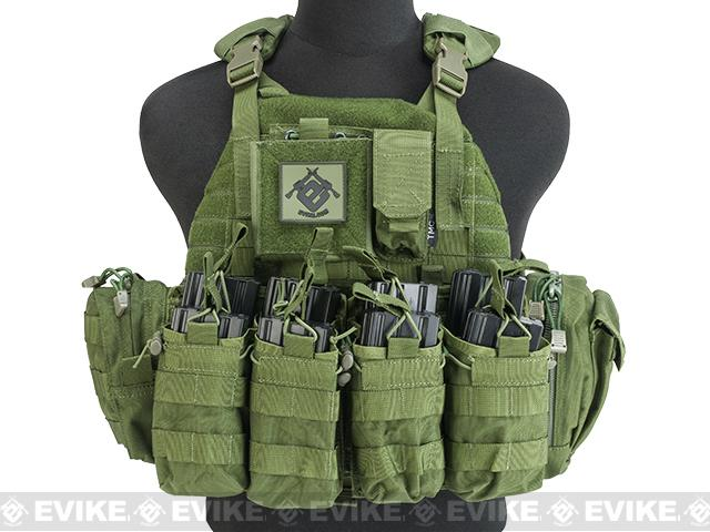 z G TMC PI Style Lightweight Plate Carrier w/ Pouches - OD Green