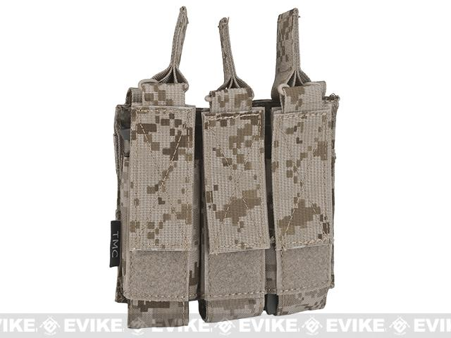 Avengers Tactical MOLLE Triple SMG Magazine Pouch - AOR1